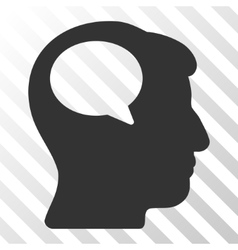 Person Thinking Icon vector image