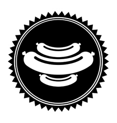 sausage food icon vector image