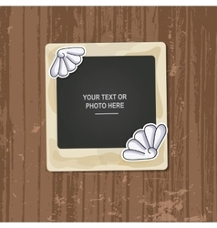 Photo frame birthday vector