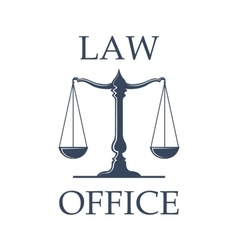 Law office icon with scales of justice vector