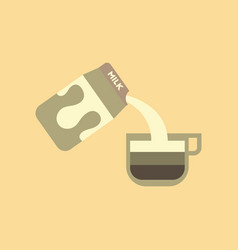 flat icon on background coffee carton milk vector image
