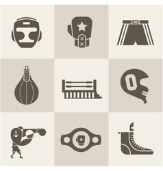 Boxing icons vector