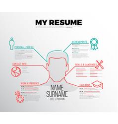 Original minimalist cv resume template vector