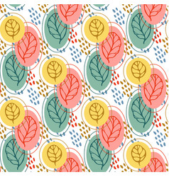 pattern with stylized leaves autumn leaf seamless vector image