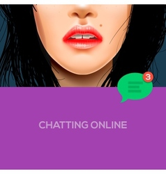 Chatting online background vector image