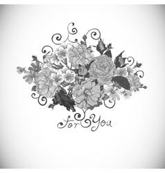 Floral ornament vintage vignette vector image