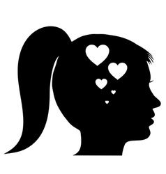 Woman in love vector image