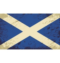 Scottish flag grunge background vector