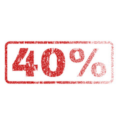 40 percent rubber stamp vector