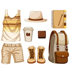 Accessories for hipster boy vector image