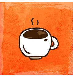 Cup of coffee cartoon vector