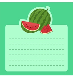 Watermelon memo notes vector