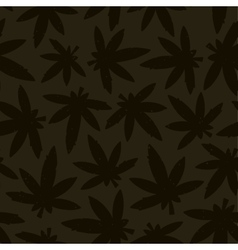 Marihuana ganja weed seamless pattern vector