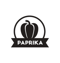Black icon on white background paprika vector