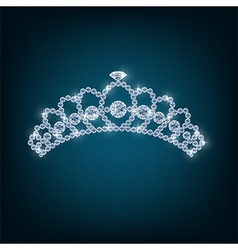 Crown with concepts from diamonds vector image