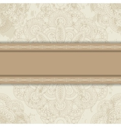 Background with round ornament vector image