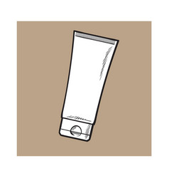 blank unlabelled tube of sun protection vector image vector image
