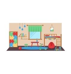 Boy baby room set vector