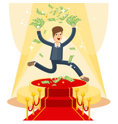 Businessman on red carpet vector
