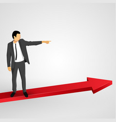 businessman points to the growing chart vector image