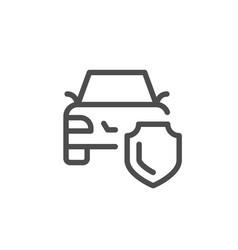 Car insurance line icon vector