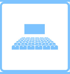 cinema auditorium icon vector image