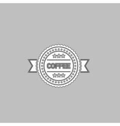 Coffee label computer symbol vector image vector image