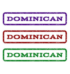 Dominican watermark stamp vector