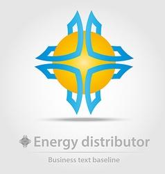 Energy distributor business icon vector
