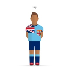 Fiji football player soccer uniform vector