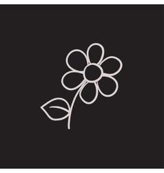 Flower sketch icon vector image vector image