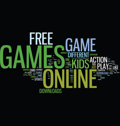 Free online game downloads text background word vector