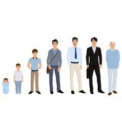 Generation man set vector image vector image