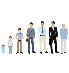 Generation man set vector