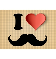 I love hipster sign vector