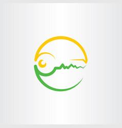 key logo symbol vector image