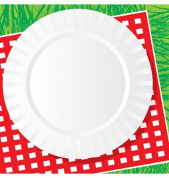 plastic dish vector image vector image
