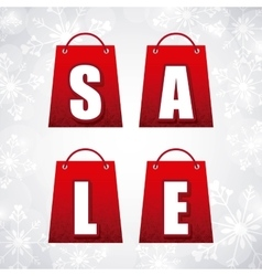 Sale and shopping bag icon Merry Christmas design vector image