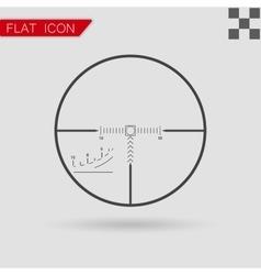 sniper black finder target vector image vector image