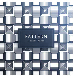 Stylish line pattern in squares background vector