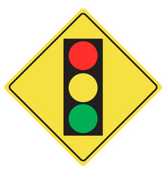 traffic light sign vector image vector image