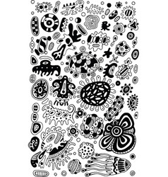tribal ethnic doodle abstract background coloring vector image vector image