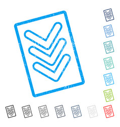 Triple pointer down icon rubber watermark vector