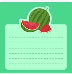 Watermelon Memo Notes vector image vector image