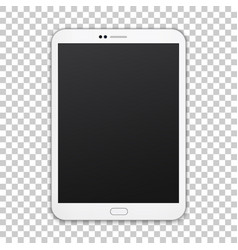 white tablet with empty screen isolated on vector image vector image