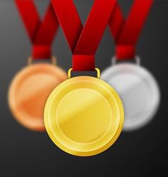 winner medals vector image