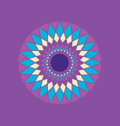 simple geometric mandala spiral vector image