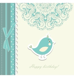 Beautiful card with bird vector