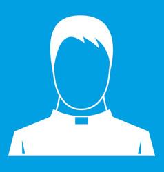 Priest icon white vector