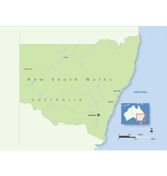 20151229 Australia New South Wales 380x400 vector image vector image